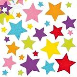 Filzaufkleber Sterne für Kinder zum Verzieren von festlichen Karten, Bastelprojekten und Collagen (144 Stück)