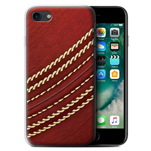 Stuff4 Gel TPU Hülle / Case für Apple iPhone SE / Baseball Muster / Sport Bälle/Ball Kollektion Kricket