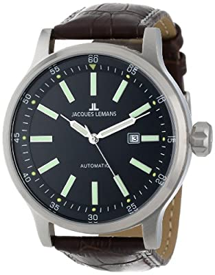 Jacques Lemans Men's Automatic Watch Sport 1-1723B with Leather Strap