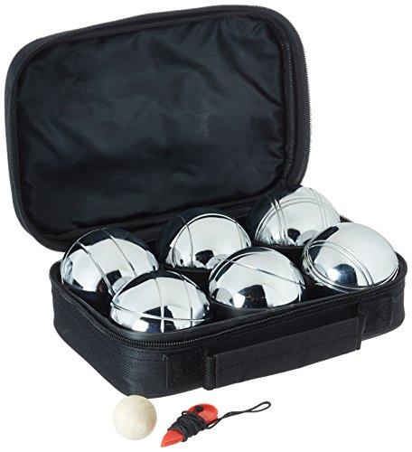 Ocean 5 Boule Set 6 Teilig - inklusive Zielkugel, Maßband und praktischer Nylontasche - für den Park, Garten oder im Sommer-Urlaub