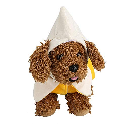 GLOGLOW Hundekostüm, Halloween-Kostüm, Banane für Hunde, Tierfeste, Party, Cosplay, S (Hunde Banane Kostüm)