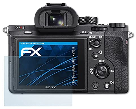 Sony Alpha a7R II / a7S II Schutzfolie - 3 x atFoliX FX-Clear kristallklare Folie Displayschutzfolie