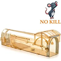 Lamoe Humane Mouse Trap, 32 cm Enlarged Smart Mouse and Rodent Trap, No Kill The Mice, Pets & Children Friendly, Like a Real Mouse Home