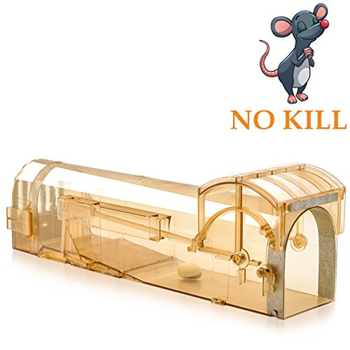 Humane Mouse Trap, 32 cm Enlarged Smart Mouse and Rodent Trap, No Kill The Mice, Pets & Children Friendly, Like a Real Mouse Hom