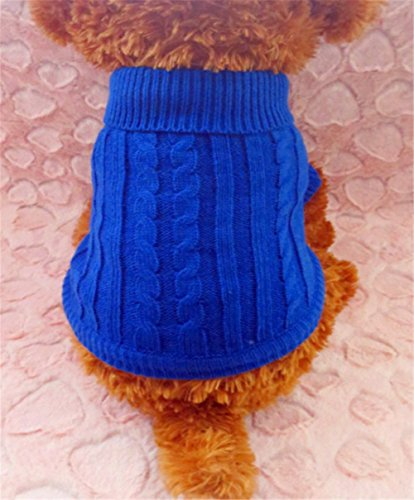 Red Cute Pet Puppy Cat Dog Warm Jumper Sweater Knitwear Coat Apparel Clothes S 2