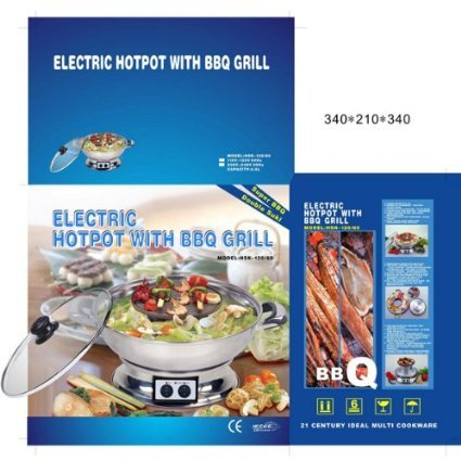 Electric Hotpot with BBQ Grill Multi Cooker