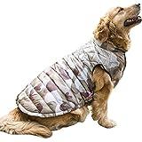 Eastlion Großer Hundewinter warmer Mantel Haustier Kleidung für goldene Schlittenhunde Samoyed, Farbe 1 Größe 28