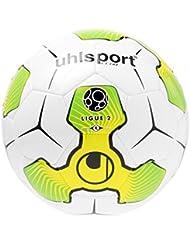 Uhlsport Liga 2balón de entrenamiento, color blanco/amarillo/verde, talla 4