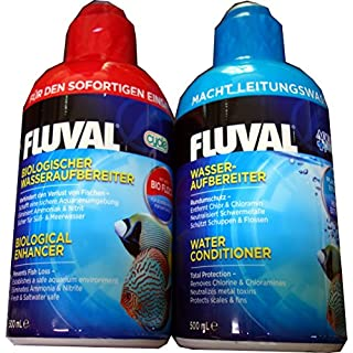 Fluval AquaPlus 500mil and Cycle 500mil: Water Conditioner and Enhancer for Aquariums