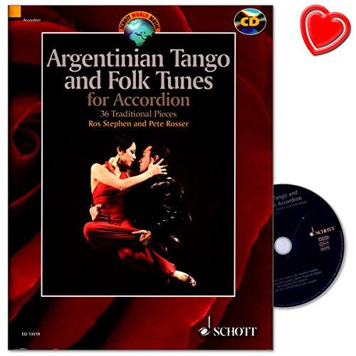 Argentinian Tango and Folk Tunes - Sammlung wunderschöner Stücke für Akkordeon - Bestseller-Reihe World Music - Notenbuch mit CD und bunter herzförmiger Notenklammer - ED13519 9781847613288