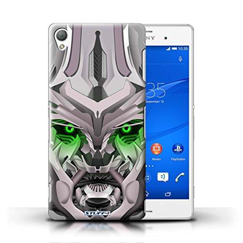Kobalt® Imprimé Etui / Coque pour Sony Xperia Z3 / Opta-Bot Bleu conception / Série Robots Mega-Bot Vert