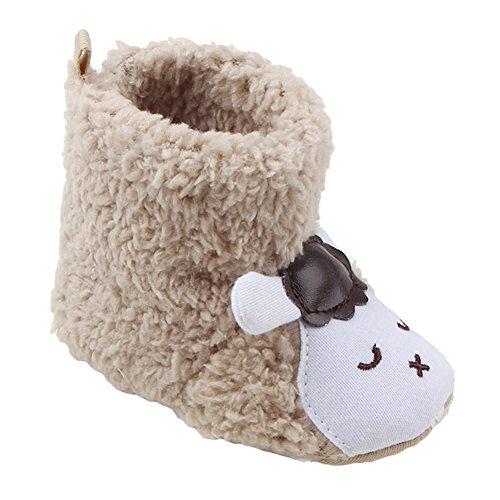 Juleya Baby Casual Stiefel Bootie - Kinder Weiche Sohle Stiefel Prewalker Hausschuhe warme Lauflernschuhe Krippeschuhe Khaki (Walker Leben Schuhe)