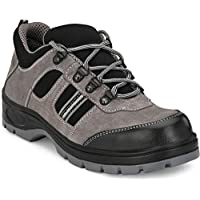 Ozarro Suede Leather Steel Toe Safety Shoes for Mens