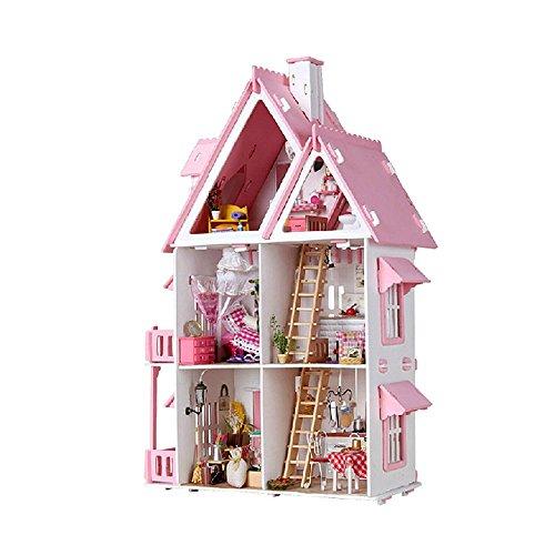 LINAG Kinder Modelle Stichsäge Manuelle Montage Täuschen Sie Vor Spielen Haus Häuser Spielzeug Geburtstagsgeschenk DIY Minipuppen Modepuppen Puzzle Zubehör
