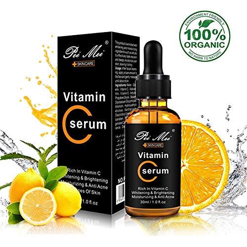 Die Natürliche Antioxidative Feuchtigkeitscreme (Vitamin C Serum, leegoal Anti-Aging- und Anti-Falten-Serum mit Hyaluronsäure, Feuchtigkeitscreme für Haut, Augenringe, feine Linien, Falten, Augentaschen und Krähenfüße (30ML / 1OZ))