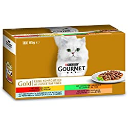 Gourmet Gold Feine Komposition Katzenfutter, Mix, 12er Pack (12 x 340 g)