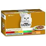 Purina GOURMET Gold Feine Komposition: Katzennassfutter, hochwertige Tiernahrung für ausgewachsene Katzen, Dose, 12 x 4 x 85 g