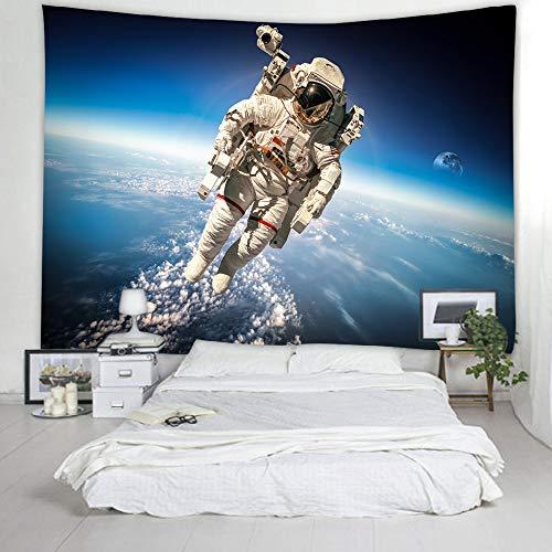 mmzki Astronauta Tapiz Decoración de la habitación de los niños Dormitorio del niño Decoración Arte Tapicería Habitación Decoración Paisaje Tapiz Decoración para el hogar Mural 200x150cm