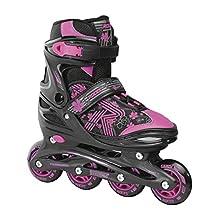 Roces Mädchen Jokey 3.0 Girl Inline-Skates, Black-pink, 26/29