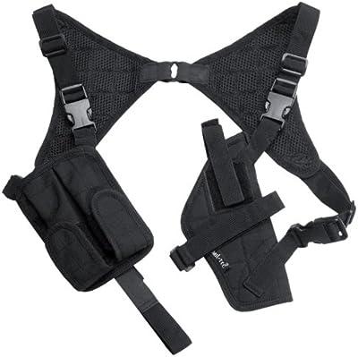 Mil-Tec pistolera de hombro Cordura Negro