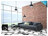 RED BRICK EMBOSSED DESIGN WALLPAPER PATTERN LOOKS REAL BRICK WALL