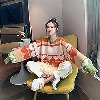 IJL suéter Mujer otoño e Invierno Usan Moda Capucha Suelta Perezoso Viento Engrosamiento Base Dulce niña vistiendo Uniforme Verde
