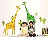 UberLyfe Yellow & Green Giraffe Wall Sti...