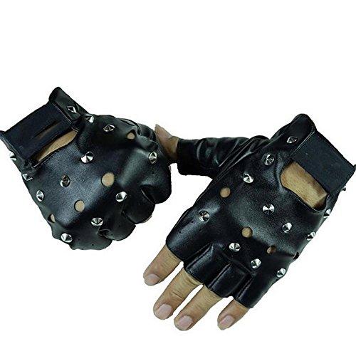 @LIU-Herren niet halbe Finger-Handschuhe aus Leder / / Punk-Streetdance show Dance Fashion Handschuhe