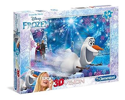 Disney Frozen - Puzzle 3D, 104 Piezas, con Gafas (Clementoni 206032) por Clementoni