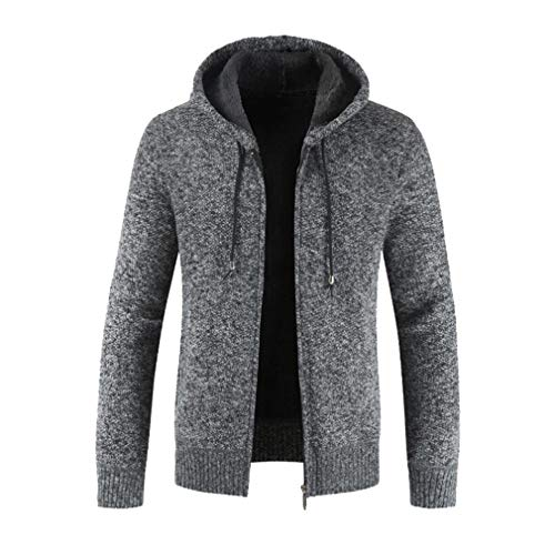 Juleya Männer Casual Herbst Strickjacke Mäntel Winter Warm Zipper Fleece Hoodie Outwear Tops Pullover Bluse Mantel