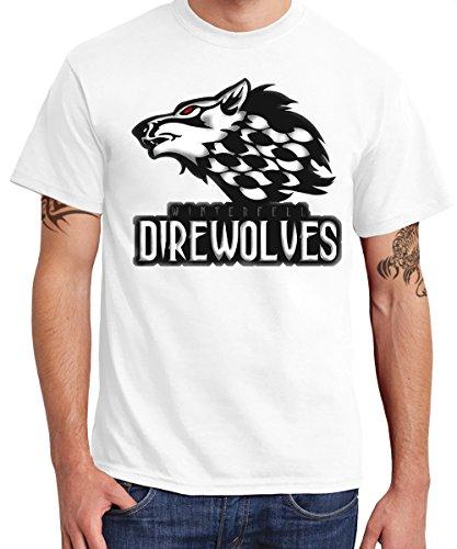-- GoT - Winterfell Direwolves Team Shirt -- Boys T-Shirt Weiß
