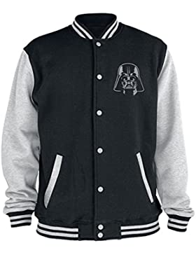 Star Wars Darth Vader Logo Cazadora tipo universitario negro/gris