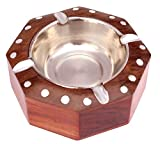 #9: ITOS365 Handmade Wooden Ashtray for Men Home Office Car Gifts