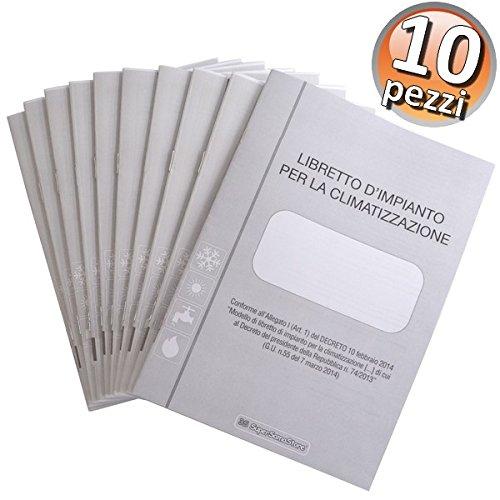 Libretto di impianto per la climatizzazione e di rapporto di efficienza energetica - 10 pezzi