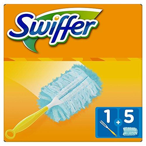 Swiffer duster starter kit, spolverino catturapolvere con 5 piumini di ricambio