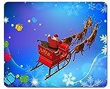 1art1 102150 Weihnachten - der Weihnachtsmann Kommt mit Seinem Rentier-Schlitten Mauspad 23 x 19 cm