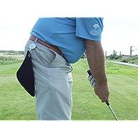 Mini retráctil personaliseitonline negro toalla de Golf. Amarillo Zinger. Regalo