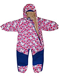 Kids Water-proof Fleece-lined Rain Suit One-Piece Hooded By Jan & Jul 1 - 5 years old