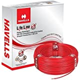 Havells 4 Sq mm Red Lifeline Cable, WHFFDNRA14X0