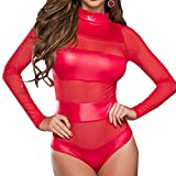 Fami Il corsetto sexy delle donne spinge verso l'alto il reggiseno superiore + la biancheria intima (Rosso #2)