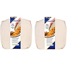 2 x Quickachips Non Stick Oven Mesh Tray Ideal For Chips Pizza Wedges - Natural