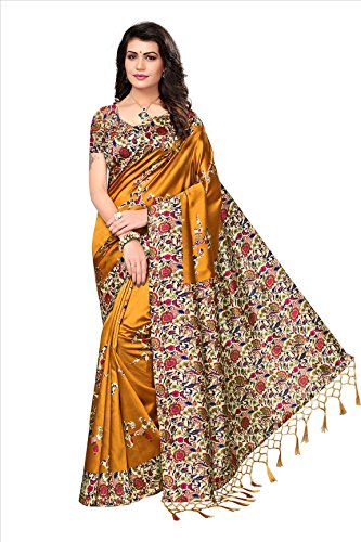 Flosive Women's silk Saree With Blouse Piece (KF-S181131 a_Free Size)