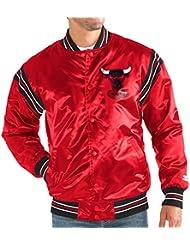 """Chicago Bulls NBA Men's Starter """"The Enforcer"""" HWC Logo Premium Satin Jacket Veste"""