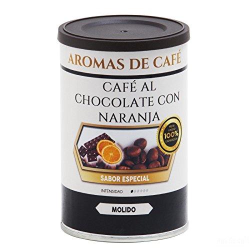Aromas de Café - Café Tostado 100% Arábica Molido Chocolate y Naranja/Café Molido 100% Arábica Tostado Intensidad Suave Con Sabor Chocolate y Naranja, 100 gr