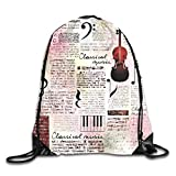 ZMYGH Old Newspaper Decor Duvet Cover Set Blues Music Genre Old Record Electric Guitars Kiss Inscriptions Grunge,Multicolor_2Travel Daypack