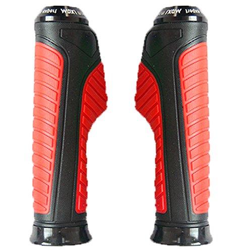 Vheelocityin Motorcycle / Bike /Scooty Handle Edge Grip Black and Red Color F...