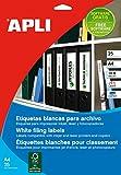 APLI 1233 - Etiquetas blancas imprimibles