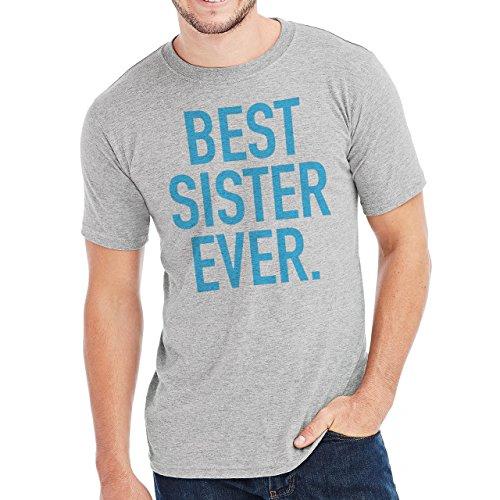 Best Sister Ever In The World Bright Blue Sky Edition Herren T-Shirt Grau