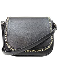 MEX Women's Leather Sling Bag (Black)