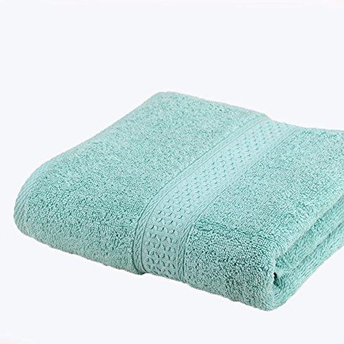 Lot de 2 Draps de Bain 100% Coton Grande Serviette Absorbante Linge de Bain 17 Couleurs 140x70cm Turquoise